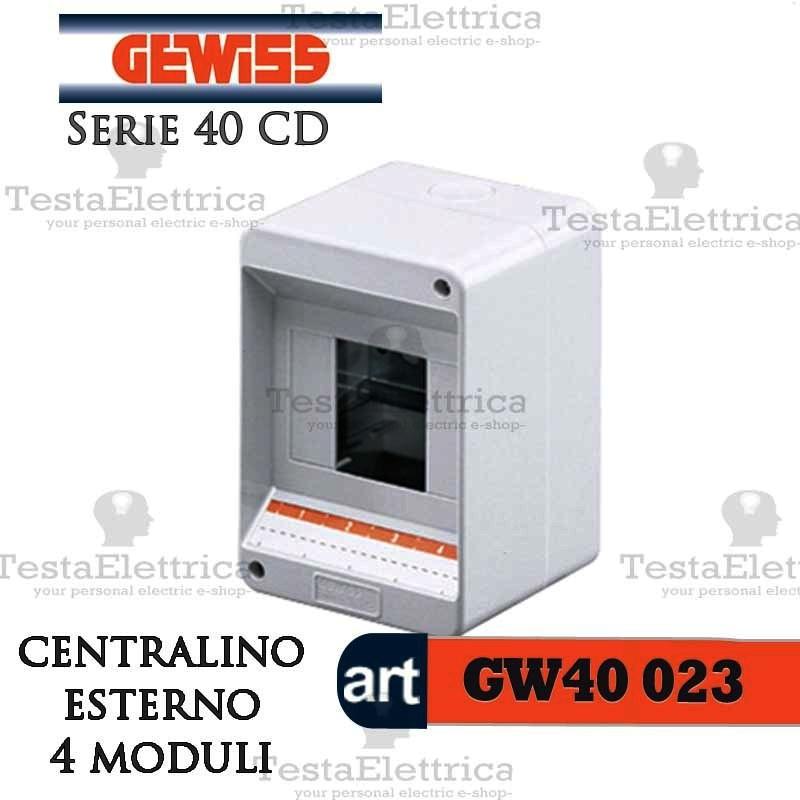 Gewiss gw40023 centralino 4 moduli per quadro elettrico for Centralino esterno 4 moduli