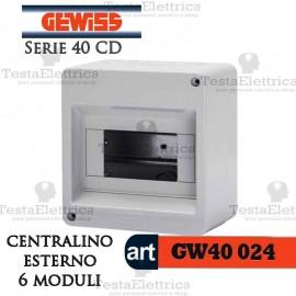Centralino 6 moduli per quadri elettrici esterni 40024 Gewiss