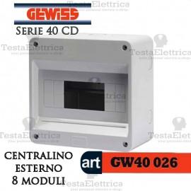 Centralino 8 moduli per quadri elettrici esterni 40026 Gewiss