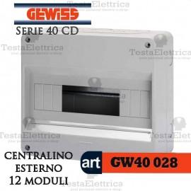 Centralino 12 moduli per quadri elettrici esterni 40028 Gewiss