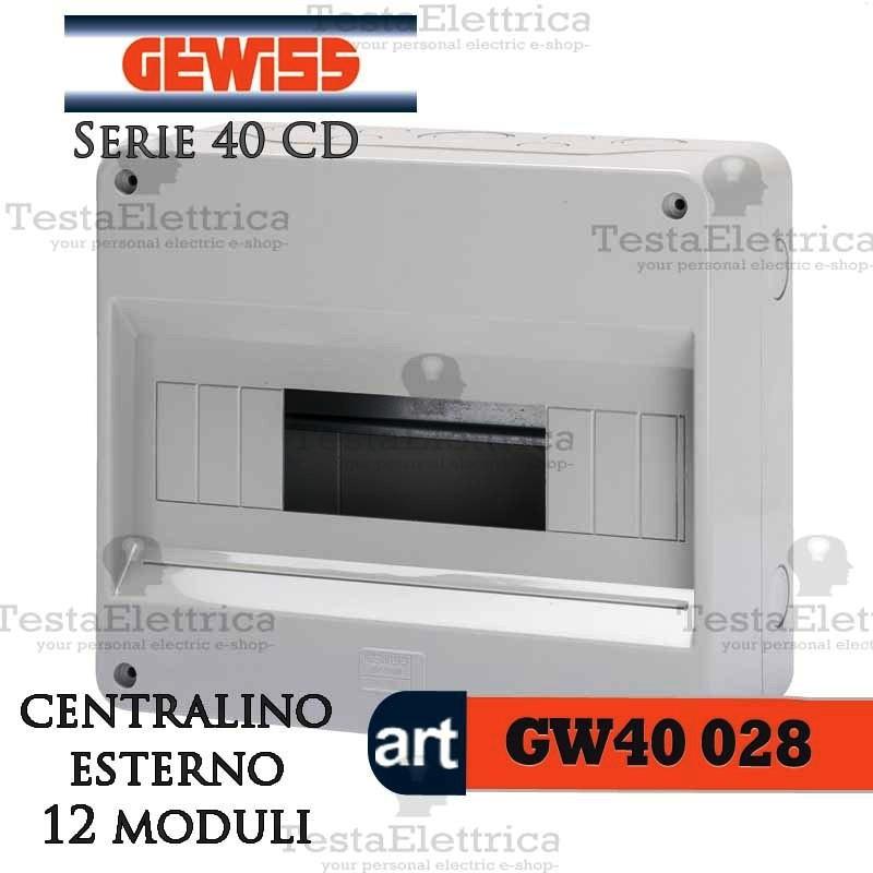 Gewiss gw40028 centralino 12 moduli per quadro elettrico for Centralino esterno 4 moduli