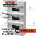 Centralino 36 moduli per quadri elettrici esterni 40031 Gewiss