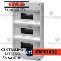 Centralino 36 moduli per quadri elettrici esterni 40032 Gewiss