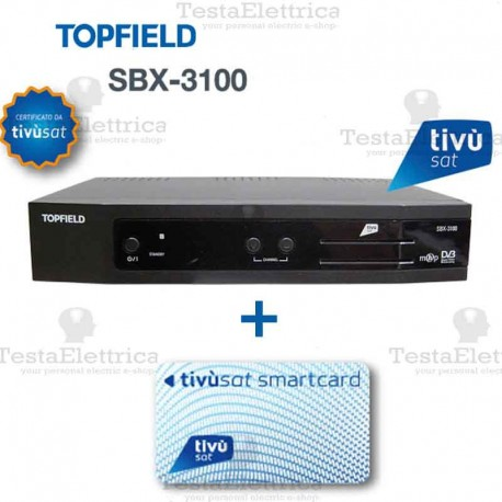 Decoder TIVUSAT sd scheda inclusa Topfield