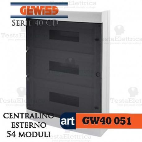 Centralino 54 moduli per quadri elettrici esterni 40051 Gewiss
