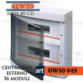 Centralino 36 moduli per quadri elettrici esterni 40049 Gewiss