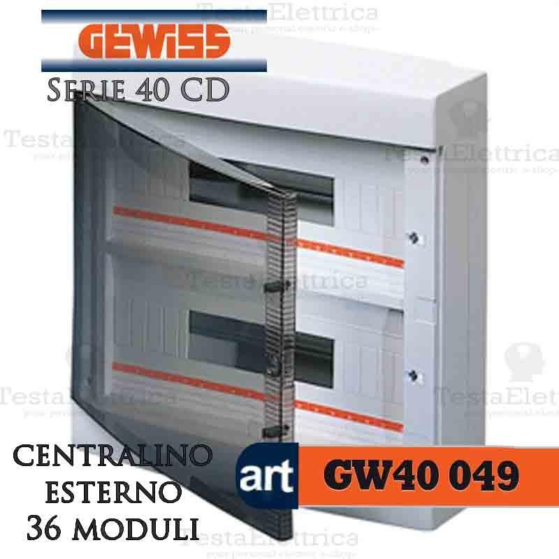 Armadio Elettrico Per Esterno.Gewiss Gw40049 Centralino Esterno Con Portello 36 Moduli Per Quadro Elettrico Esterno
