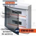 Centralino 36 moduli con morsettiera per quadri elettrici esterni 40048 Gewiss