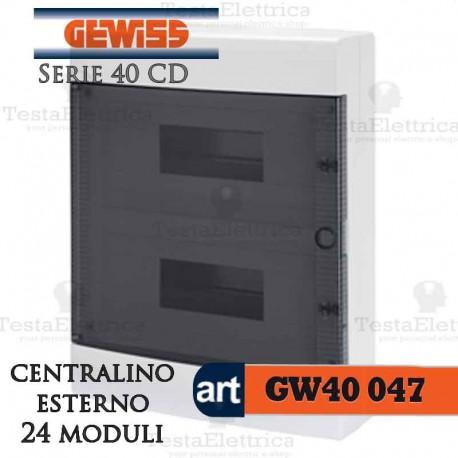 Centralino 24 moduli per quadri elettrici esterni 40047 Gewiss