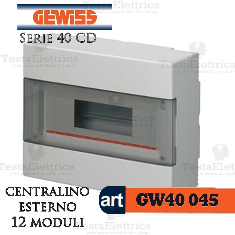 Gewiss Gw40045 Centralino Esterno Con Portello 12 Moduli