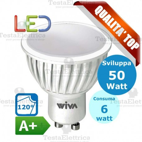 Lampada led GU10 220V 6W spot deco Wiva