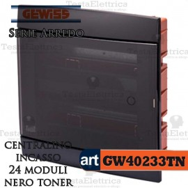 Centralino 24 moduli  per quadri elettrici incasso  Arredo Gewiss