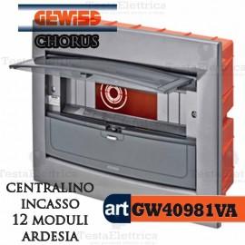 Centralino 12 moduli per quadri elettrici incasso Chorus Gewiss