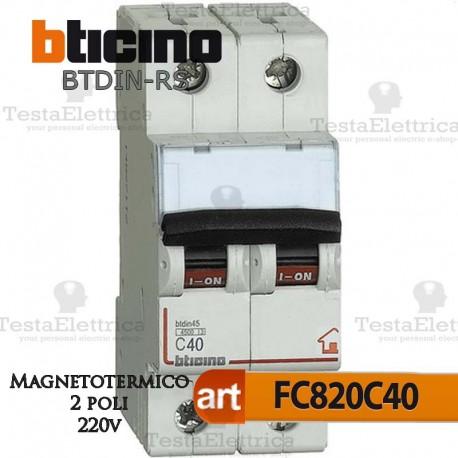Interruttore magnetotermico 2P C40A  220V Bticino