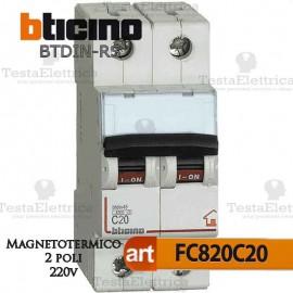 Interruttore magnetotermico 2P C20A  220V Bticino