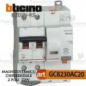 Interruttore Magnetotermico Differenziale 2P 20A  220V Bticino