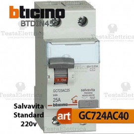 Interruttore Differenziale Salvavita 40A 220V Bticino