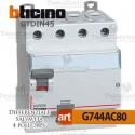 Interruttore Differenziale Salvavita 80A  380V Bticino