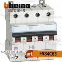 Interruttore magnetotermico 4P C63A  380V Bticino