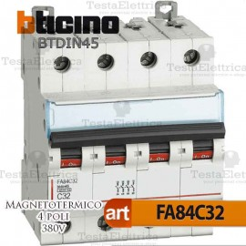 Interruttore magnetotermico 4P C32A  380V Bticino