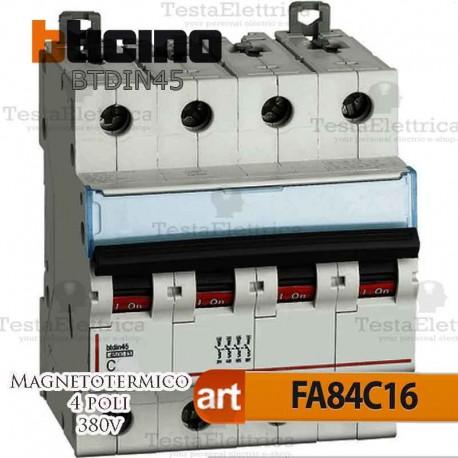 Interruttore magnetotermico 4P C20A  380V Bticino