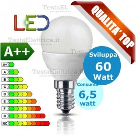 Lampadina a led  mini sfera 6,5 Watt E14 Stone