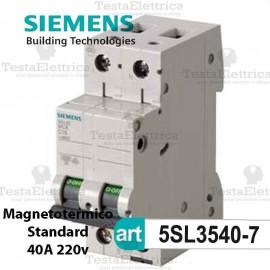 Interruttore magnetotermico 40A  220V Siemens
