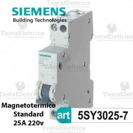 Interruttore magnetotermico 25A  220V Siemens