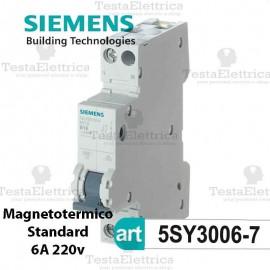 Interruttore magnetotermico 6A 220V Siemens