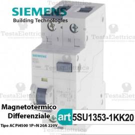 Interruttore Magnetotermico Differenziale 20A 220V Bticino