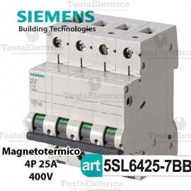 Interruttore magnetotermico 4P C25 380V Siemens