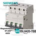 Interruttore magnetotermico 4P C20 380V Siemens