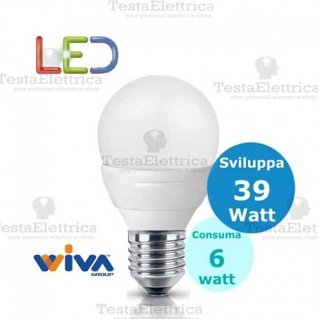 Lampadina a led  goccia 6 Watt E27 Basic Wiva