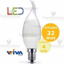 Lampadina a led colpo di vento 4 Watt E14 Wiva