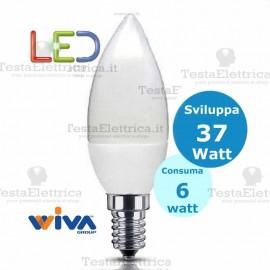 Lampadina a Led Oliva 6 Watt E14 Basic Wiva