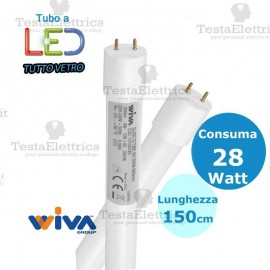 Tubo a led 150 cm 28 watt Led Tube Glass Wiva