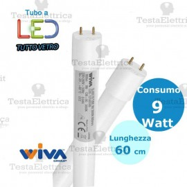 Tubo a led 60 cm 9 watt Led Tube Glass Wiva