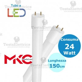 Tubo a led 150 cm 24 watt PVC Melchioni