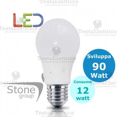 Lampadina a led goccia 12 Watt E27 Stone