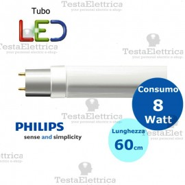 Tubo a led 60 cm 8 watt PVC Philips