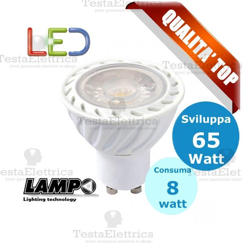Lampada led gu10 220v 8 w lampo for Lampade led 220v