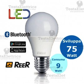 Lampadina a led Bluetooth 9W 4000K E27 ReeR