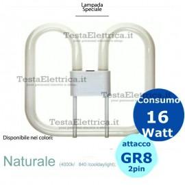 Lampada 2d 16W GR8 2 pin Gemini
