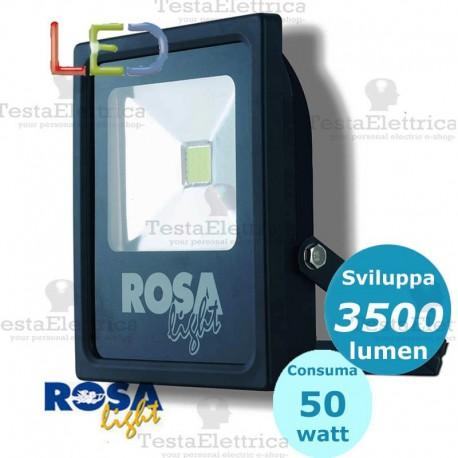 Faro a Led 50 watt nero Rosa Light