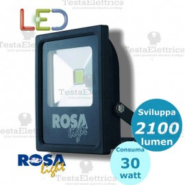 Faro a Led 30 watt nero Rosa Light
