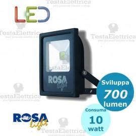 Faro a Led 10 watt nero Rosa Light