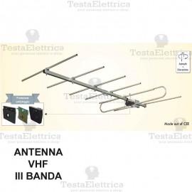 antenna DTT VHF III Banda S7 PRO CBvichy