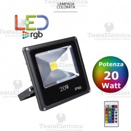 Faro a Led RGB slim 20 watt