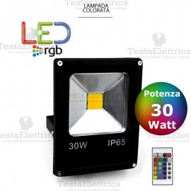 Faro a Led RGB slim 30 watt