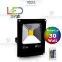 Faro a Led RGB slim 30 watt
